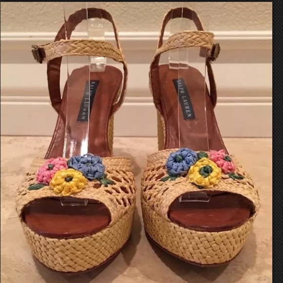 Ralph Lauren Collection Floral Polka-Dot Sandals buy cheap cheap sale websites sale Manchester find great outlet perfect fQ2v316wsW